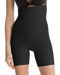 Spanx - Black 'power Series' High-waisted Shorts - Lyst