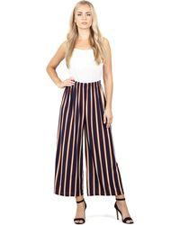 Izabel London - Navy Striped Elasticated Trousers - Lyst