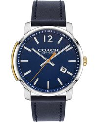 COACH - Men's Blue 'bleecker Slim' Watch - Lyst
