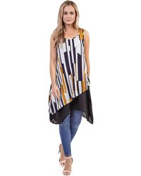 Izabel London - Multicoloured Asymmetric Tunic Top - Lyst