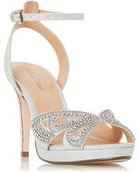 18e2b3771d4 Roland Cartier - Silver  mika  High Stiletto Heel Ankle Strap Sandals - Lyst