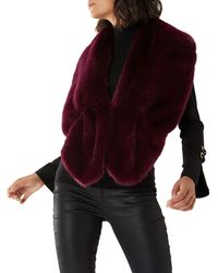 Coast - Purple Merlot 'mia' Faux Fur Scarf - Lyst