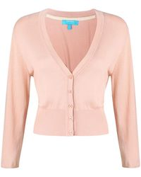 c4e73aea13aa07 Ted Baker Peach Blossom V-neck Jumper in Pink - Lyst