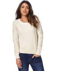 G-Star RAW - Off White Wool Rich Knitted Jumper - Lyst