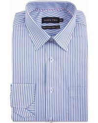 Double Two - Blue Vertical Stripe Formal Shirt - Lyst