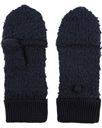 Rag & Bone Christina Cotton and Wool-blend Mittens blue - Lyst