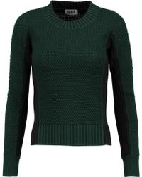 Sonia by Sonia Rykiel - Two-tone Textured-knit Cotton Sweater - Lyst