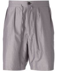 Paul Smith Pleated Front Shorts - Lyst