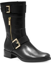 Michael Kors Michael Gansevoort Flat Boots - Lyst
