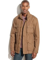 Cole Haan Hooded Four-Pocket Utility Jacket - Lyst