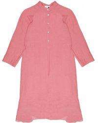 Giada Forte - Linen Gauze Dress In Rosa - Lyst