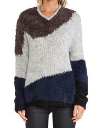 Tibi Multicolor Mohair Sweater - Lyst