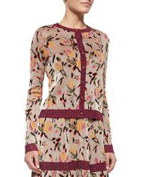Missoni Floral Jacquard Shimmer Cardigan floral - Lyst