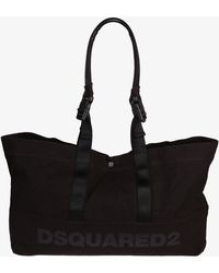 DSquared² - Printed Cotton Duffle Bag - Lyst