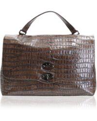 Zanellato - Brown Leather Postina Centauro Bag - Lyst