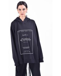 MM6 by Maison Martin Margiela - Oversized Printed Cotton Hoodie - Lyst
