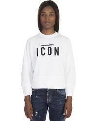 DSquared² | Cotton Jumper With Embroidered Logo | Lyst