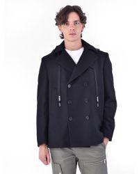 MSGM - Wool Blend Coat - Lyst