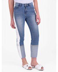 SJYP - Cropped Denim Jeans - Lyst