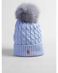 bfad5e2dfe762 Moncler Grenoble Virgin Wool Hat With Logo Detail for Men - Lyst