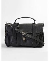 Proenza Schouler - Black Leather Ps1 Medium Bag - Lyst