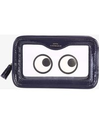 Anya Hindmarch - Leather And Pvc Clutch - Lyst