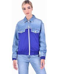 SJYP - Zipped Denim Jacket - Lyst