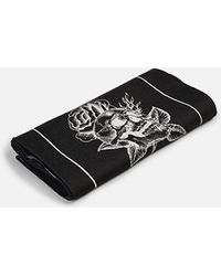 Marcelo Burlon - Embroidered Wool And Silk Scarf - Lyst