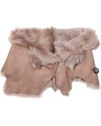 Karl Donoghue - Pink Powder Toscana Leather Shrug - Lyst