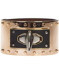 Givenchy - Leather And Metal Shark Tooth Bracelet - Lyst