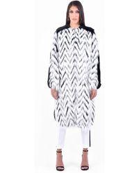 Givenchy - Faux Fur Long Coat - Lyst