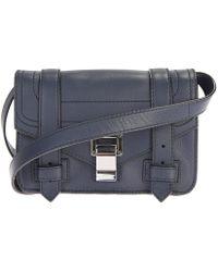 Proenza Schouler - Dark Blue Leather Ps1 Mini Crossbody Bag - Lyst