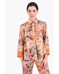 For Restless Sleepers - Printed Silk And Cotton Shirt - Lyst