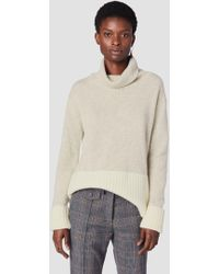 10 Crosby Derek Lam - Turtleneck Sweater With Contrast Rib Detail - Lyst
