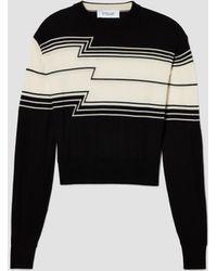 10 Crosby Derek Lam - Chevron Stripe Silk Wool Jumper - Lyst
