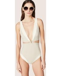 Derek Lam - Cut Out One Piece With Hardware - Lyst