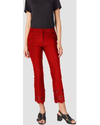 10 Crosby Derek Lam - Cropped Flare Trouser With Eyelet Embroidery - Lyst