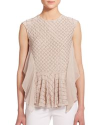 Needle & Thread Deconstructed Blouse - Lyst