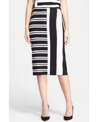 Theory Efersten Stripe Midi Skirt - Lyst