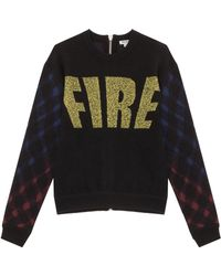 Kenzo Fire Knit with Plaid Sleeve - Lyst