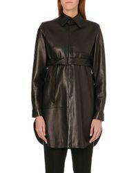 Yohji Yamamoto Leather Shirt Black - Lyst
