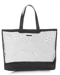 Topshop Gray Mesh Tote - Lyst