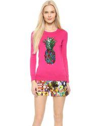 Markus Lupfer Rainbow Pineapple Sequin Emma Sweater - Azalea Pink - Lyst