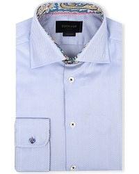 Duchamp Herringbone Pattern Tailored-Fit Shirt - For Men - Lyst