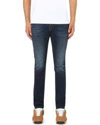 "Diesel Tepphar 0814W Slim-Fit Tapered Jeans L30"" - For Men - Lyst"