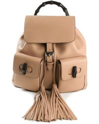Gucci Tassel Detail Backpack - Lyst