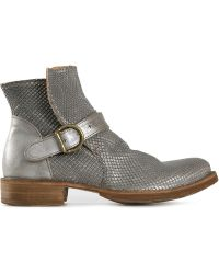 Fiorentini + Baker 'Eternity' Buckled Boots silver - Lyst