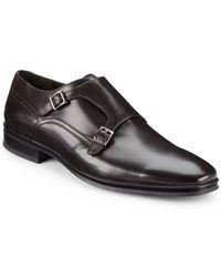 Bruno Magli Paro Leather Double Monkstrap Shoes - Lyst