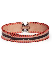 Givenchy 'Obsedia' Whipstitch Colourblock Leather Belt - Lyst