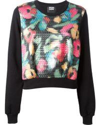 Markus Lupfer Floral Houndstooth Sweatshirt - Lyst